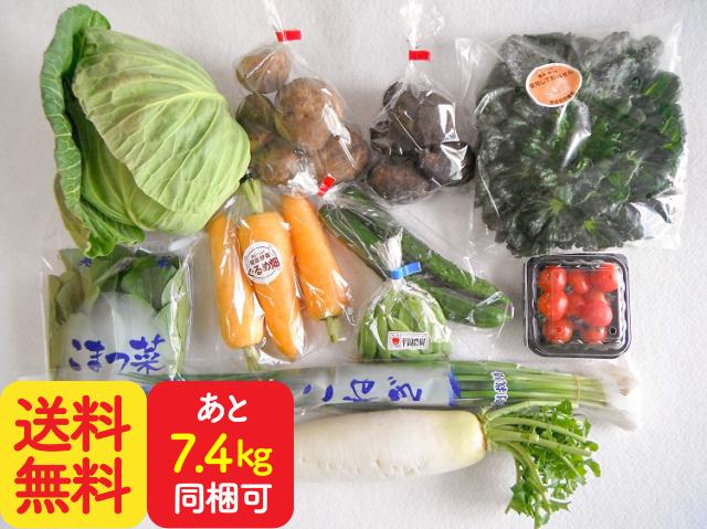 九州野菜と牛乳・卵・食パンセット【7.6kg】