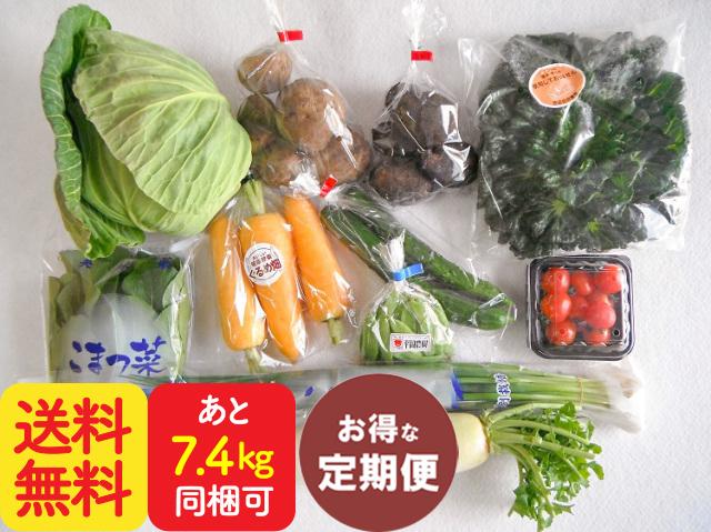 【定期便】九州野菜と牛乳・卵・食パンセット【7.6kg】