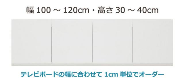 GRANNER(グラナー)壁面収納上置きラック(幅100~120cm×奥行44cm×高さ30~40cm)