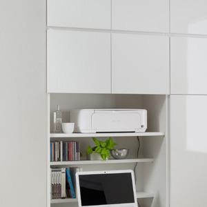 GRANNER(グラナー)壁面収納パソコンデスクユニット幅70cm・ブラックウォールナット用可動棚板大×1・小×1