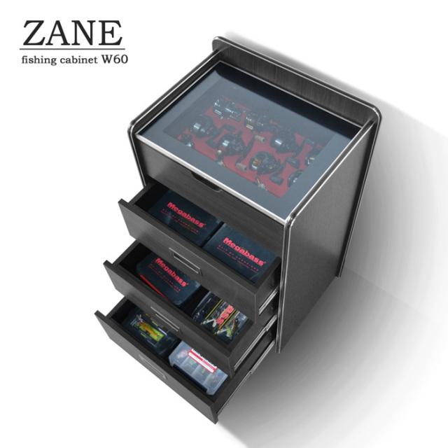 ZANE(ゼイン)リールディスプレイチェスト・ウッディブラック(幅56cm×奥行40cm×高さ90cm)