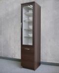 スリムラック [アルム2]40cm幅 =米びつを引き出せるスライド棚付 食器棚 [国産完成品]