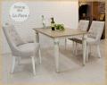ソファダイニング5点セット[ラ・フローラ]=おしゃれで気品のある フレンチ シャビー アンティーク風の家具