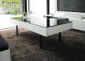 ローテーブル[フィオット]  =モダンに空間を彩る コントラストとウェーブラインが美しいローテーブル