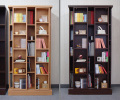 SRスライド書棚 = 88cm幅 2slide ウォールナット・ナチュラル[国産・完成家具] ◆ナチュラル:6月末入荷予定◆