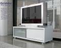 テレビ台[グリッダー]ホワイト 120cm幅 = 42V大型液晶テレビ対応シンプルモダンデザイン[国産・完成品]