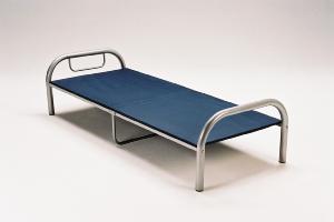 【大型商品】太いパイプの激安シングルベッド