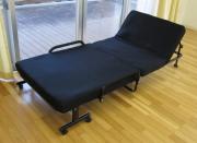 【大型商品】リクライニング機能付低反発マット折りたたみベッド