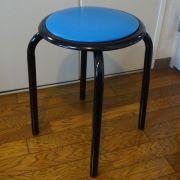 【送料無料】太いパイプ使用の丸いす10脚入・青色 日本製  丸椅子 【M-24T】