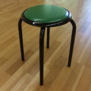 【送料無料】太いパイプ使用の丸いす10脚入・緑色 日本製  丸椅子 【M-24T】