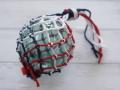 ガラス浮玉-NO.13-【ガラス玉直径約8.8cm/1個】ネット付き・現品