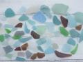 シーグラス(自然)-ミックス-瀬戸内産【約2cm~8cm/約300g】 [メール便可-2袋まで]
