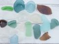 シーグラス(自然)-瓶底ミックス-現品1-瀬戸内産【約2cm~8cm/約300g】 [メール便可-2袋まで]