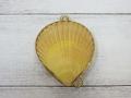 小物入れ-ヒオウギガイ黄色-【約6cm/1個】