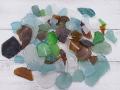 ビーチグラス自然-ミックス-【約1cm~7cm/約500g】 [メール便可-2袋まで]