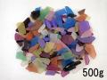ビーチグラス(人工)-ミックス-【約1cm~7cm/約500g】 [メール便可-2袋まで]