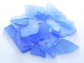 ■メール便可(8袋まで)■ビーチグラス(人工)単色売り-ブルー-【約2cm〜7cm/約100g】シーグラス ウエディング ハンドメイド DIY ランプ 照明 キャンドル