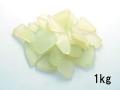 ビーチグラス(人工)単色売り-ライトグリーン-【約2cm~7cm/約1kg】 [メール便可-1袋まで]