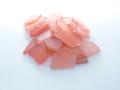 ■メール便可(8袋まで)■ビーチグラス(人工)単色売り-オレンジ-【約2cm〜7cm/約100g】シーグラス ウエディング ハンドメイド DIY ランプ 照明 キャンドル