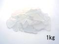 ビーチグラス(人工)単色売り-ホワイト-【約2cm~5cm/約1kg】 [メール便可-1袋まで]
