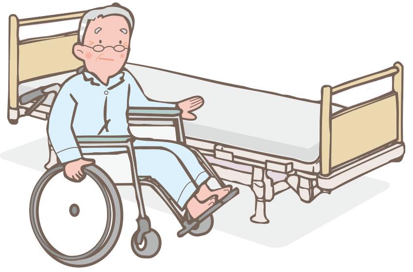 車いすに移乗 イメージ