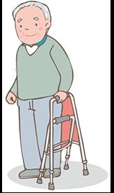 歩行器を使いたいが片手しか使えない方 イメージ