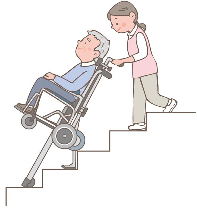 階段の昇り降りに不安のある方 イメージ