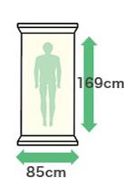 幅:85cm・縦:169cm