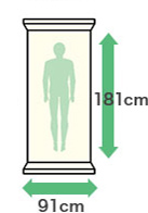幅:91cm・縦:181cm