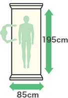 幅:85cm・縦:195cm