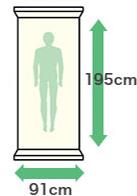 幅:91cm・縦:195cm