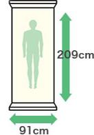 幅:91cm・縦:209cm