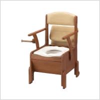 コンパクトな家具調ポータブルトイレ 安寿 家具調トイレコンパクト  標準便座 533670