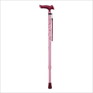 お出かけが楽しくなるオシャな杖 かるがもファム伸縮S WB3707