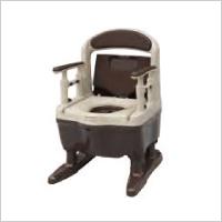 独自のくぼみで理想の排泄姿勢を促す 安寿ポータブルトイレ ジャスピタ