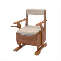ゆったり座れるワイド幅ポータブルトイレ 家具調トイレセレクトRノーマルワイド