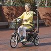 【電動車いす】小回りができて操作しやすい三輪型電動シニアカー S637 スマートパルN