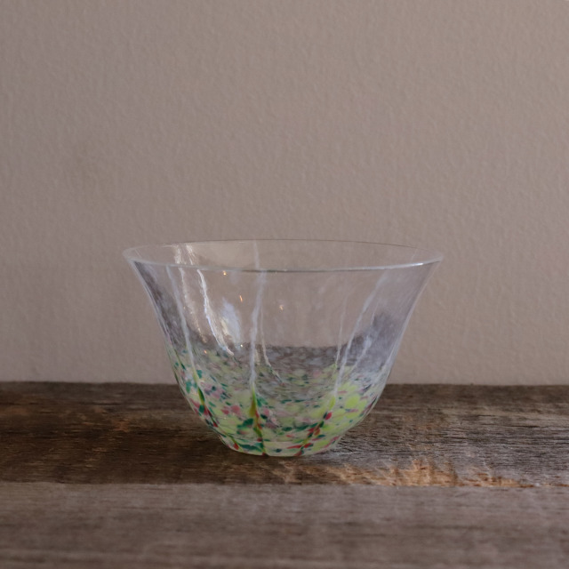 色和ガラス ぐい呑(TJ702)  小春 85cc / 丸モ高木陶器