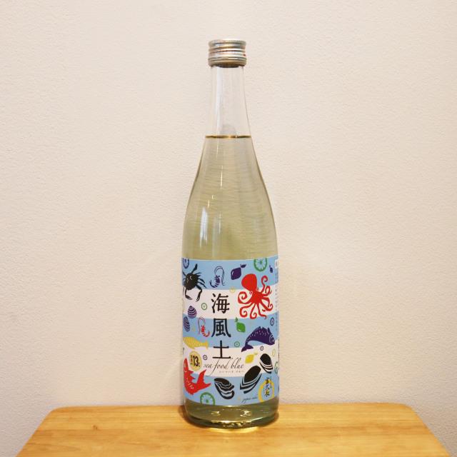白麹純米酒 海風土(sea food)ブルー 720ml/今田酒造本店