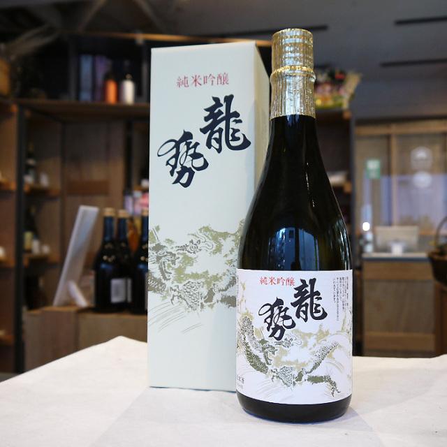 龍勢  白ラベル  純米吟醸酒 箱入 720ml / 藤井酒造