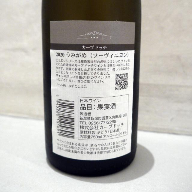 カーブドッチ うみがめ 白ワイン