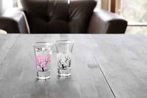 再入荷【桜が満開に♪】冷感桜 天開グラス ぺアセット(ギフト用)/丸モ高木陶器