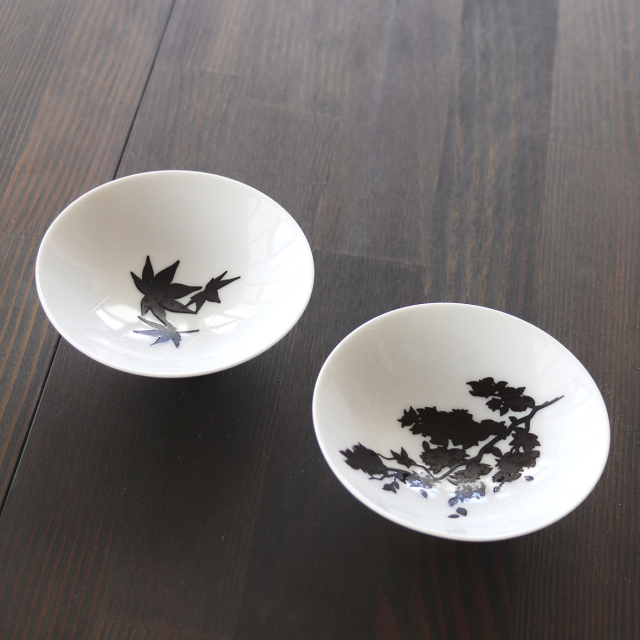 温感平盃 桜・紅葉セット / 丸モ高木陶器