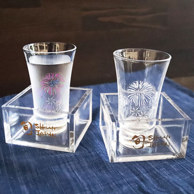 冷感花火 こぼし酒ペアセット 箱入 /  丸モ高木陶器