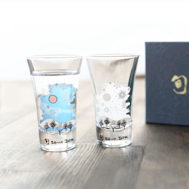 冷感雪結晶 グラス天開