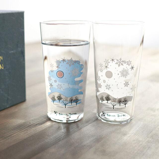冷感雪結晶 タンブラー ペアセット 箱入 / 丸モ高木陶器