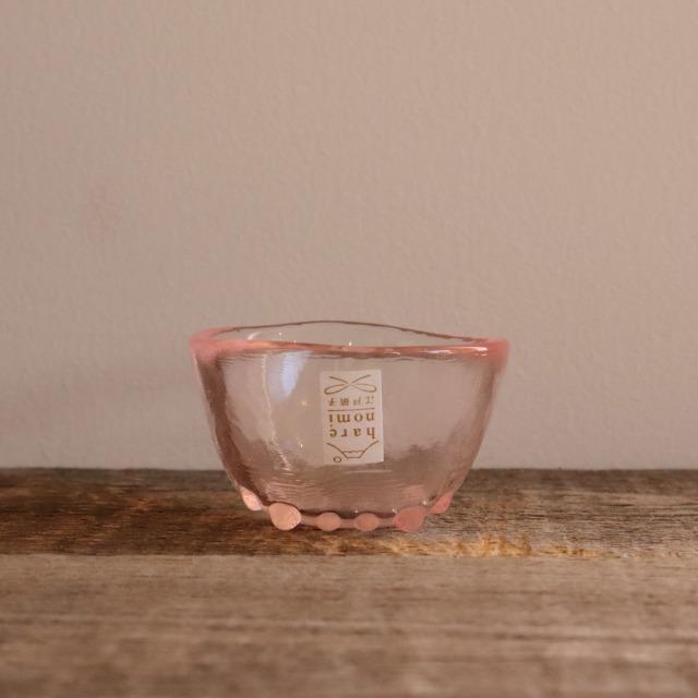 色硝子・酒杯 達磨盃ピンク 70cc / 丸モ高木陶器