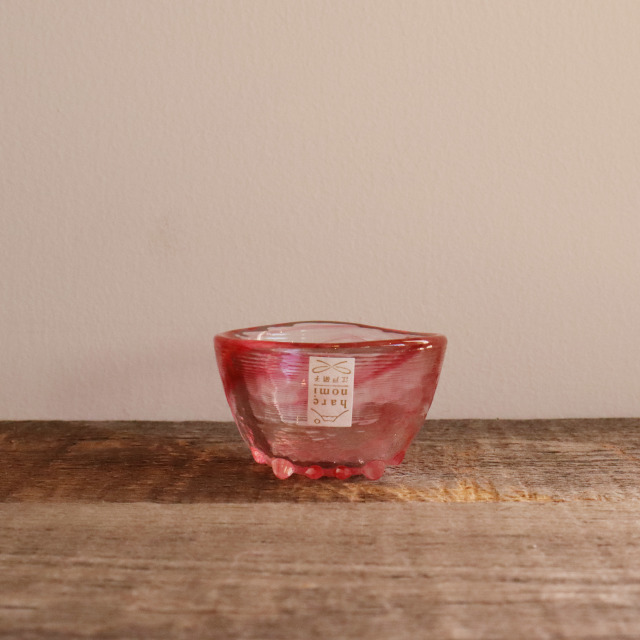 色硝子・酒杯 達磨盃レッド 70cc/丸モ高木陶器