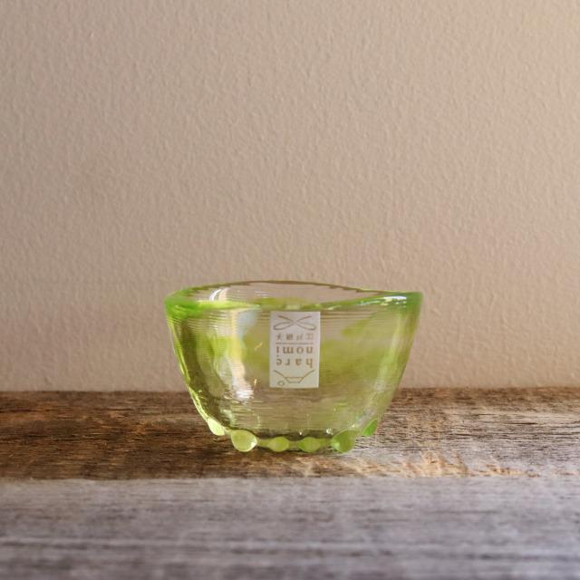 色硝子・酒杯 達磨盃グリーン 70cc/丸モ高木陶器