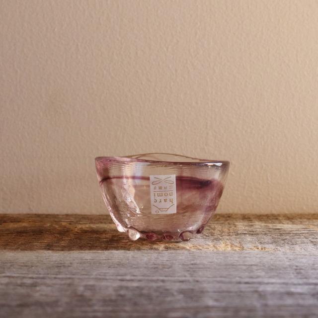 色硝子・酒杯 達磨盃紫 70cc/丸モ高木陶器
